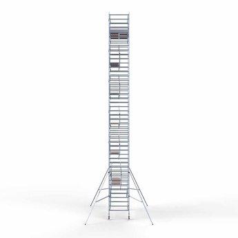 Rolsteiger Voorloopleuning Dubbel 135 x 305 x 14,2 meter werkhoogte met lichtgewicht platformen