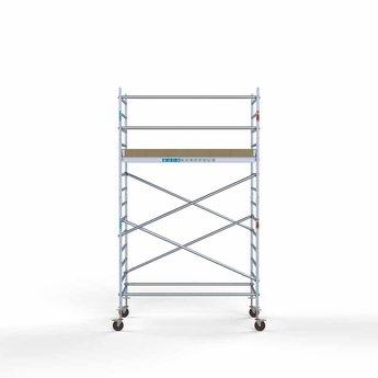 Steigeraanhanger 250 + Rolsteiger Basis 135 x 250 x 5,2 meter werkhoogte