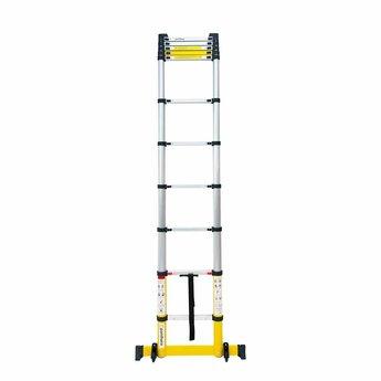 NIEUW: Telescoopladder Premium Yellow  3.2 meter