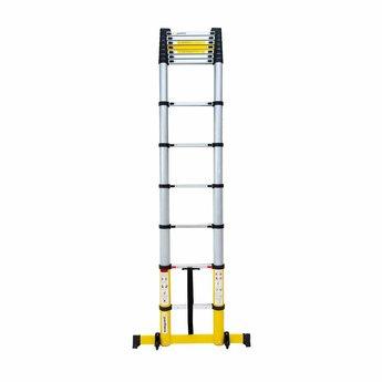 NIEUW: Telescoopladder Premium  Yellow 3.8 meter
