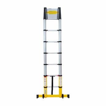 NIEUW: Telescoopladder Premium  Yellow  4.4 meter