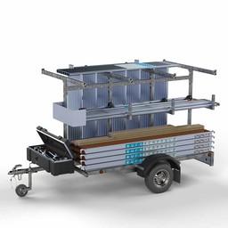 Steigeraanhanger 250 + Rolsteiger Compleet 75 x 190 x 7,2 meter werkhoogte
