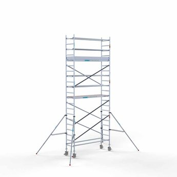 Steigeraanhanger 250 + Rolsteiger Compleet 75 x 250 x 7,2 meter werkhoogte