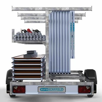 Steigeraanhanger 305 + Rolsteiger Compleet 135 x 305 x 7,2 meter werkhoogte