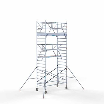 Steigeraanhanger 250 + Rolsteiger Voorloopleuning Dubbel 135 x 250 x 7,2 meter werkhoogte