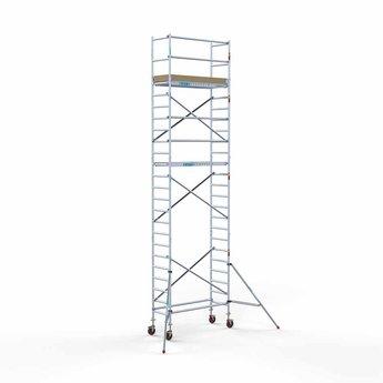 Steigeraanhanger 250 + Rolsteiger Basis 75 x 190 x 8,2 meter werkhoogte
