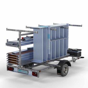 Steigeraanhanger 305 + Rolsteiger Basis 75 x 305 x 8,2 meter werkhoogte