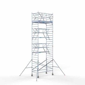 Steigeraanhanger 250 + Rolsteiger Voorloopleuning Dubbel 135 x 250 x 9,2 meter werkhoogte