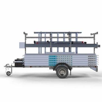 Steigeraanhanger 305 + Rolsteiger Compleet 75 x 305 x 10,2 meter werkhoogte