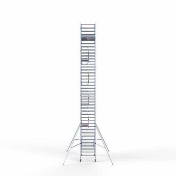 Steigeraanhanger 250 + Rolsteiger Voorloopleuning Dubbel 135 x 250 x 13,2 meter werkhoogte