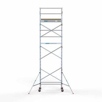 Steigeraanhanger afsluitbaar 250 + Rolsteiger Basis 90 x 190 x 8,2 meter werkhoogte