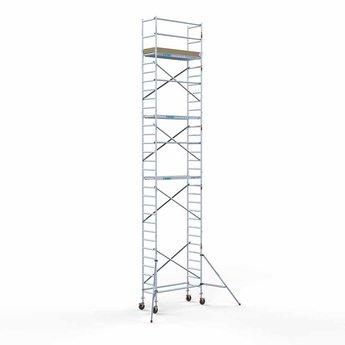 Steigeraanhanger afsluitbaar 250 + Rolsteiger Basis 75 x 190 x 10,2 meter werkhoogte