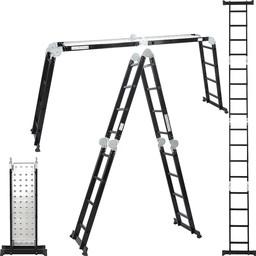 Vouwladder 4x4  Black incl. platform