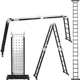 Vouwladder 4x5 Black incl. platform