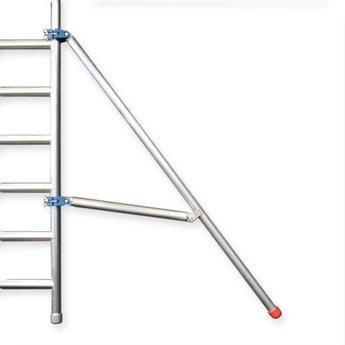 Kamersteiger Euroscaffold 90 cm breed werkhoogte 4,0 meter  met verstelbare wielen
