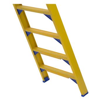Kunststof dubbele trap 2x7 treden