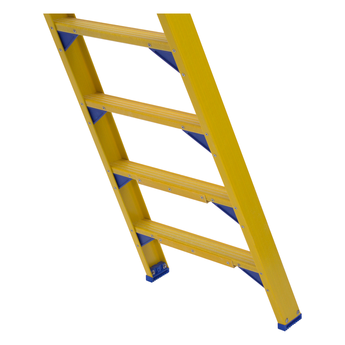 ALGA Kunststof dubbele trap 2x8 treden