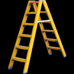 ALGA Kunststof dubbele trap 2x10 treden