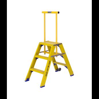 Staltor Kunststof dubbele trap met wegklapbare beugel 2x3 treden