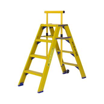 Staltor Kunststof dubbele trap met wegklapbare beugel 2x4 treden