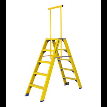 Staltor Kunststof dubbele trap met wegklapbare beugel 2x5 treden