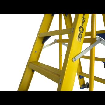 Staltor Kunststof dubbele trap met wegklapbare beugel 2x6 treden