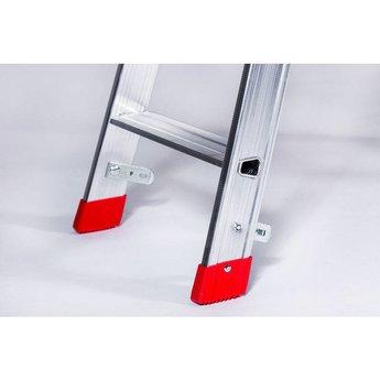 Lichtgewicht dubbele trap 2x7 treden -