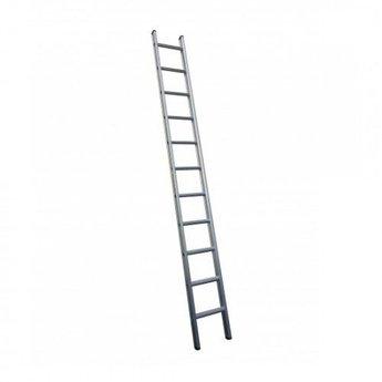 Enkele ladder 1x12 Maxall recht met stabiliteitsbalk