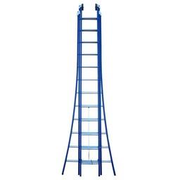3 delige ladder 3x14 treden (blauwe gecoat)