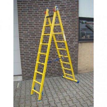 ALGA Kunststof ladder GVK 2x8 treden