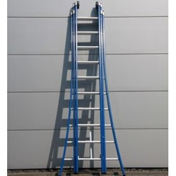 3 delige ladder 3x8 treden (blauwe coating)