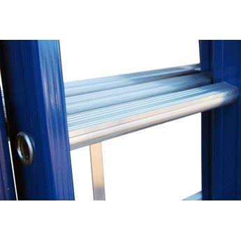 3 delige ladder 3x12 treden (blauwe coating)