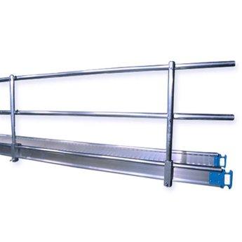 Leuning voor werkbrug / loopbrug  4 meter