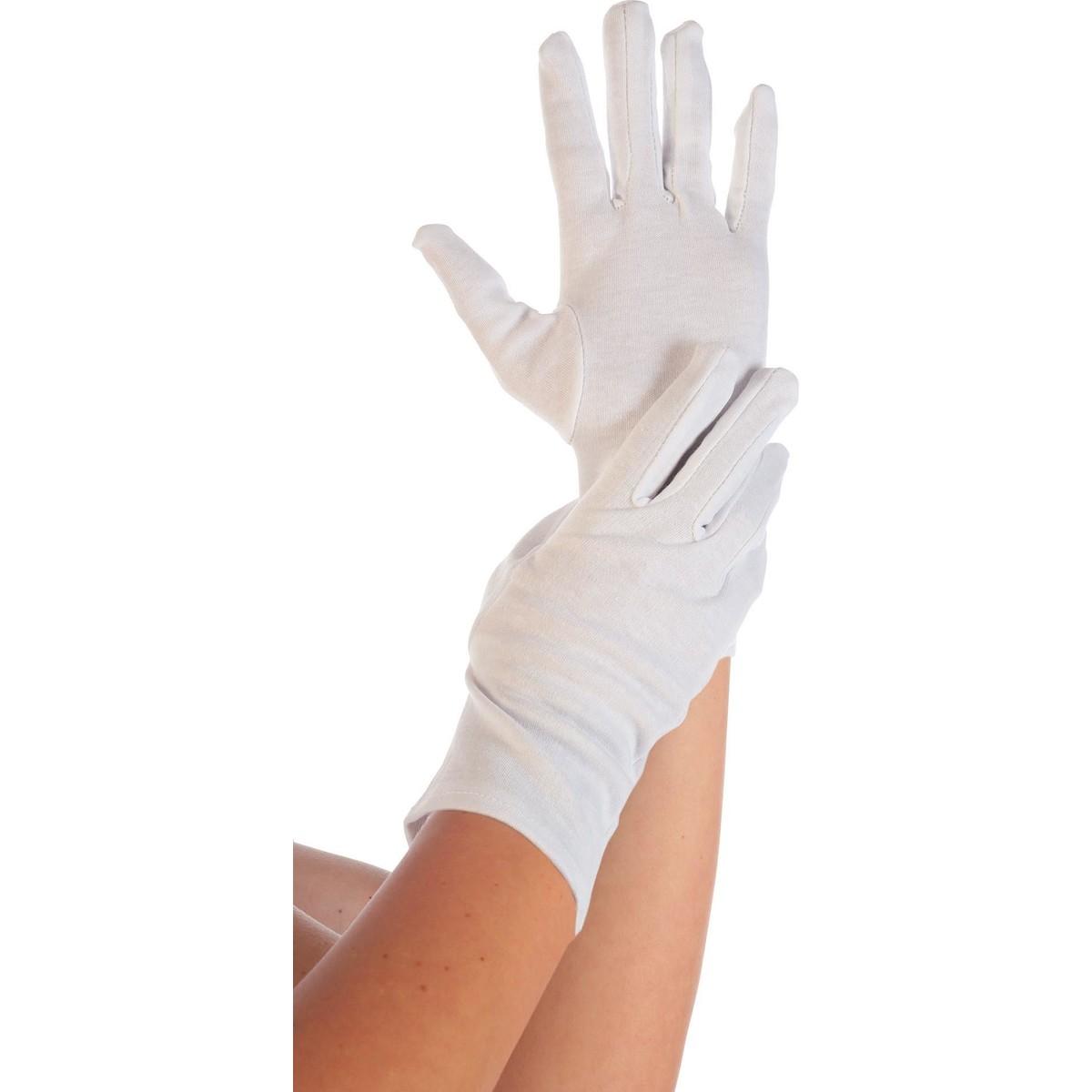 Baumwollhandschuh weiß Größe L