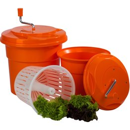 Salatschleuder manuell orange 12l