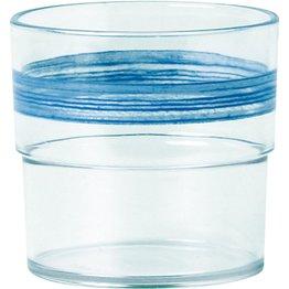 "Trinkbecher ""Colour"" 0,23L SAN klar/blau"