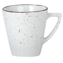 "Porzellanserie ""Granja"" weiß Tasse obere Kaffee Grande"