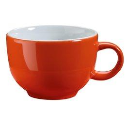 Kaffee-/Cappuccinotasse obere orange