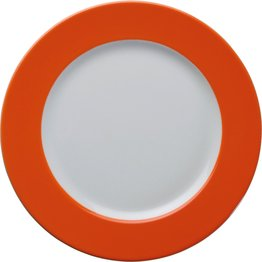 Teller flach 21,5cm orange