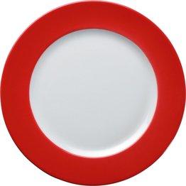 Teller flach Ø 26 cm rot
