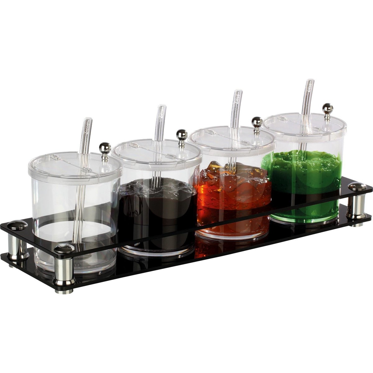 Buffetbar mit 4 Behältern