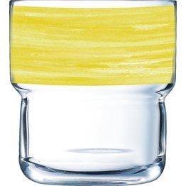 "Glasserie ""Brush"" Gelb 220ml - NEU"