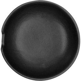 Keramik-Ablage schwarz  Reislöffelablage Ø 8cm schwarz  - NEU