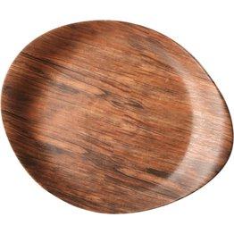 """Porzellanserie """"Wood Design"""" Alumina  Teller 26x21 cm - NEU"""