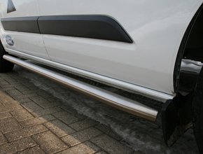 Sidebars RVS Ford Transit Custom vanaf 2012 L1 Hoogglans