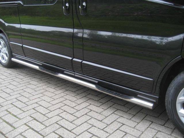 Sidebars RVS Ford Transit Custom vanaf 2012 L1 Hoogglans 4 steps