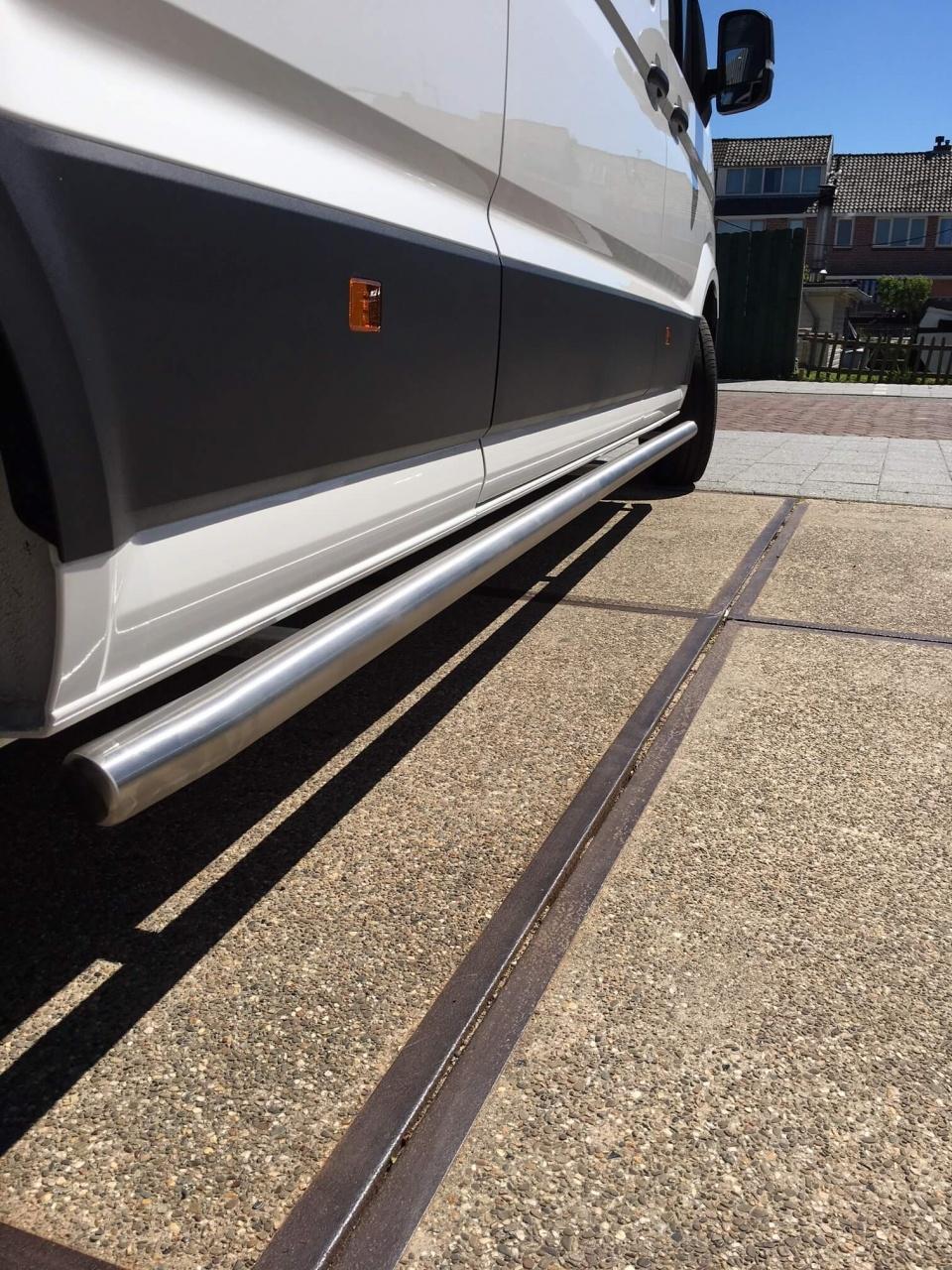 Sidebars RVS MAN TGE vanaf 2017 L4 Hoogglans TUV