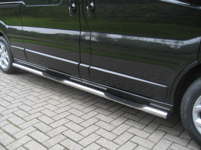 Sidebars RVS Mercedes Vito tot 2014 WB 3200 Hoogglans 3 steps