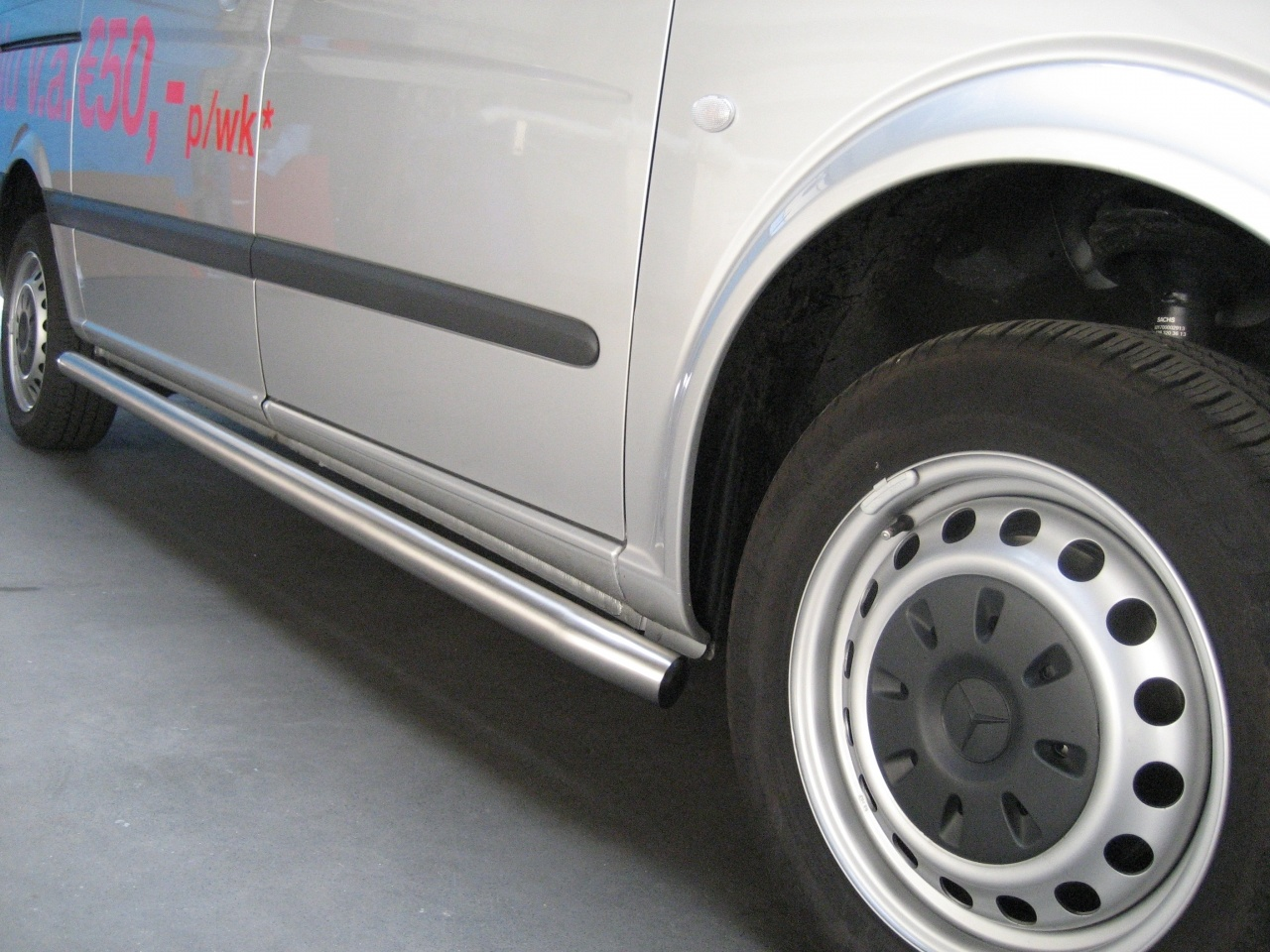 Sidebars RVS Mercedes Vito vanaf 2014 WB 3200 Mat