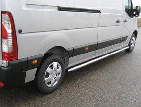 Sidebars RVS Opel Movano vanaf 2010 L1 Hoogglans TUV